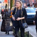 Amber Heard – Heading to a business meeting at Sant Ambroeus in NYC