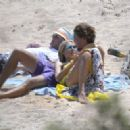 Heidi Klum Wearing Bikini On The Beach In The Mediterranean