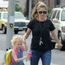 Rebecca Gayheart and her daughter Billie Dane spotted out and about in West Hollywood, California on September 8, 2014 - 454 x 567