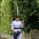 Davina McCall – Jog in a country park in Kent - 454 x 713