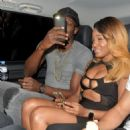 Usain Bolt pictured with another mystery woman as he parties into the small hours for second night in London - 454 x 453