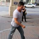 Simon Cowell was spotted at his hotel today after taping a segment of 'The X Factor' in Providence,