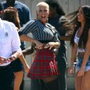 Amber Rose on the Set of 'School Dance' in Norwalk, California -  June 18, 2012 - 401 x 594