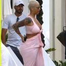 Blac Chyna and Amber Rose Relaxing Poolside in Miami, Florida - January 17, 2015