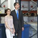 Queen Letizia and King Felipe visit the World Food Program