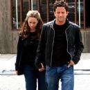Jennifer Love Hewitt - With Fiance Ross McCall, Leave Mo's Restaurant In Los Angeles, April 19 2008 - 454 x 680