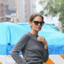Katie Holmes – In white jeans stepped out in New York