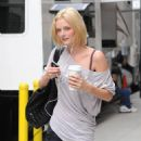Lydia Hearst-Shaw - Listening To Music And Drinking Coffee - New York City - 08 September 2009