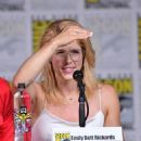 Emily Bett Rickards-   Comic-Con International 2018 - 'Arrow' Special Video Presentation And Q&A - 454 x 544