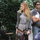 Blake Lively On Set Of Gossip Girl In NYC, 2010-09-23