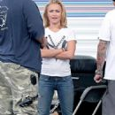 Hayden Panettiere - On The Set Of 'Heroes', July 29, 2009