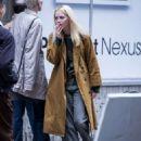 Emma Stone – Filming 'Maniac' set in New York