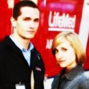 Allison Mack and Sam Witwer