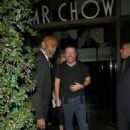 Ricky Gervais out at Mr Chow restaurant in Beverly Hills, California on January 9, 2015