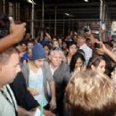 Justin Bieber signs autographs and poses with fans outside of Radio Z100 June 21, 2012