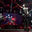 Paul Stanley of KISS performs during their End Of The Road World Tour at The Forum on February 16, 2019 in Inglewood, California - 454 x 303