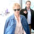 Kylie Minogue in Jeans at terminal 5 departing for New York - 454 x 681