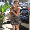 Sarah Hyland in Mini Dress – Out in Los Angeles
