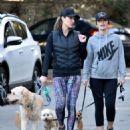 Minka Kelly – Walking Her Dogs in Los Angeles 1/1/ 2017 - 454 x 546