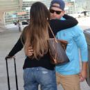 Gaby Espino at LMM airport in San Juan - 454 x 820