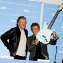 Robert Plant and Roger Daltrey pose at a press conference to announce the Daltrey/Townsend Teen & Young Adult Cancer Program at UCLA on November 4, 2011 in Los Angeles, California - 454 x 425