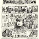Mary Jane Kelly. From The Illustrated Police News, 17th November 1888. Copyright, The British Library Board