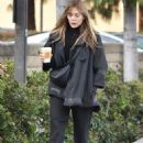 Elizabeth Olsen – Leaving Alfred's Coffee in Studio City