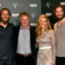 Travis Fimmel, Katheryn Winnick, Clive Standen and Michael Hirst - European premiere of Vikings, London (May 15th 2013).