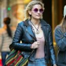 Paris Jackson in Leather Jacket and Jeans out in New York - 454 x 681