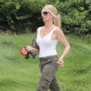 Nicollette Sheridan – With her dog out in Calabasas - 454 x 681