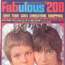 Fabulous 208 magazine, 21st December 1968, featuring Paula Boyd and John Perry on the cover. Inside caption: GOT THEM COVERED! - On our Christmas cover this week - John Perry, singer with Grapefruit and his girlfriend Paula Boyd. Think her face is familia