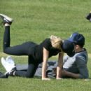 Bryana Holly and Nicholas Hoult at the park in London - 454 x 303