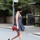 Daisy Lowe in Mini Dress – Out in London - 454 x 597