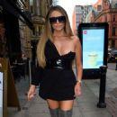 Charlotte Dawson in Black Mini Dress – Out in Manchester - 454 x 675