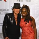 Guitarist Richie Sambora and Singer-songwriter Ledisi pose backstage at the Songwriters Hall Of Fame 46th Annual Induction And Awards at Marriott Marquis Hotel on June 18, 2015 in New York City. - 434 x 600