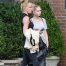 Melanie Griffith and her daughter Stella are seen waiting for a cab outside The Bowery Hotel in New York City, New York on August 27, 2015