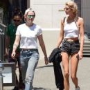 Stella Maxwell and Kristen Stewart – Shopping in Los Angeles