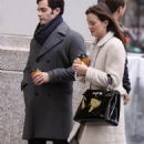 Leighton Meester - On the Gossip Girl set in New York City - 2010-11-16