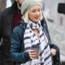 Christina Aguilera And Her Husband Jordan Bratman Acted Like A Pair Of Newlyweds As They Stopped By A Potential School For Their Son Max In Los Angeles, CA On December 21, 2009 - 454 x 682