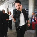 Colin Farrell is seen at LAX on August 29, 2015