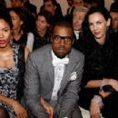 Alexi Pfeiffer, Kanye West and L'Wren Scott attend the YSL Fashion show, during Paris Fashion Week (Ready to Wear) Fall-Winter at the Grand Palais on February 28th, 2008 in Paris, France