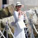 Catherine Zeta Jones on holiday in France - 454 x 720