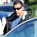 Adam Sandler takes his daughters Sadie and Sunny out for lunch in Brentwood, California on December 29, 2014 - 415 x 594
