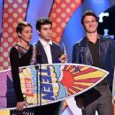 Shailene Woodley, Nat Wolff and Ansel Elgort At The Teen Choice Awards 2014