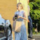 Emma Roberts in Floral Dress at Nobu in Malibu