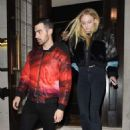 Sophie Turner and Joe Jonas at 34 restaurant in London February 24, 2017