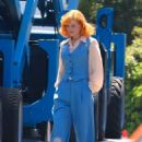 Nicole Kidman and Alia Shawkat – On the set of 'Being the Ricardos' in Los Angeles