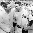 Babe Ruth & Gary Cooper during the filming of Pride of The Yankees
