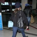 Alison Brie Arrives At Los Angeles International Airport