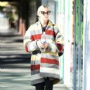 Ashlee Simpson wears a colorful coat to the gym in LA